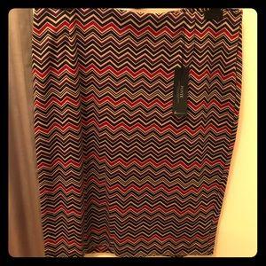 New - Ziz-Zaz Multi-Colored Pencil Skirt.